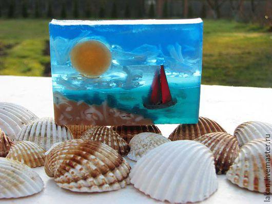 Алые паруса. Морской пейзаж из мыла. Творческая мастерская `Лакан`