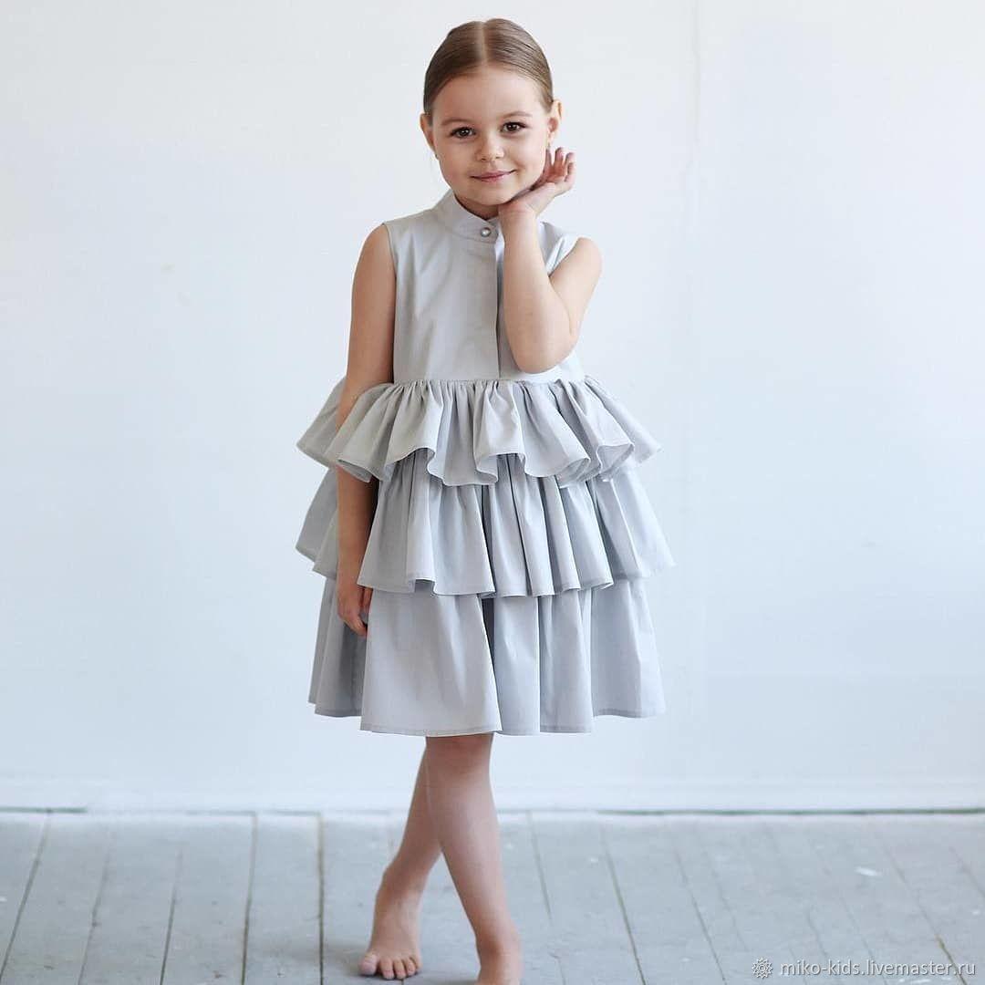 Хлопковое платье с трех ярусной сборкой, Платья, Екатеринбург,  Фото №1