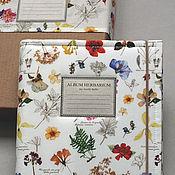 Канцелярские товары handmade. Livemaster - original item An album for the herbarium of the Botanical garden (A4, for 25 plants). Handmade.