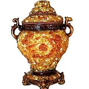 Для дома и интерьера handmade. Livemaster - original item Box amber ceramics for jewelry anniversary gift orange. Handmade.
