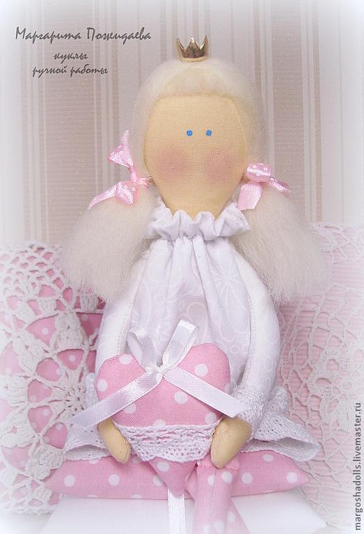 Куклы Тильды ручной работы. Ярмарка Мастеров - ручная работа. Купить Принцесса на горошине. Handmade. Бледно-розовый, наполнитель синтепон