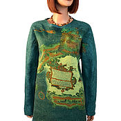 Одежда handmade. Livemaster - original item Felted warm tunic-sweatshirt wool