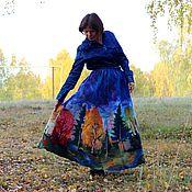 """Одежда ручной работы. Ярмарка Мастеров - ручная работа Валяная юбка """"Золотая осень"""". Handmade."""