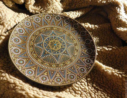Тарелка `Скифия` Диаметр 26 см, глазурированная керамика
