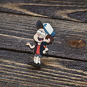 Украшения handmade. Livemaster - original item Wooden icon Gravity falls. Handmade.