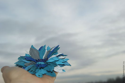 """Броши ручной работы. Ярмарка Мастеров - ручная работа. Купить Брошь """"Морская волна"""". Handmade. Брошь, брошь цветок"""
