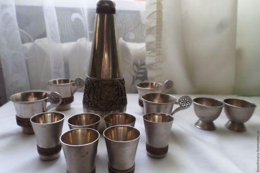 Винтажная посуда. Ярмарка Мастеров - ручная работа. Купить Винный набор бюмет.. Handmade. Серебряный, коллекционирование