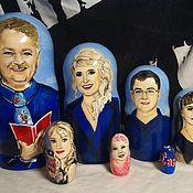 Именные сувениры ручной работы. Ярмарка Мастеров - ручная работа Портреты на матрёшках по фото. Handmade.