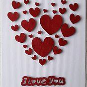 """Открытки ручной работы. Ярмарка Мастеров - ручная работа Открытка ручной работы  """"I Love You"""". Handmade."""