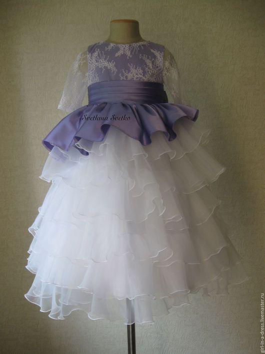 Одежда для девочек, ручной работы. Ярмарка Мастеров - ручная работа. Купить Нарядное платье для девочки. Handmade. Нарядное платье