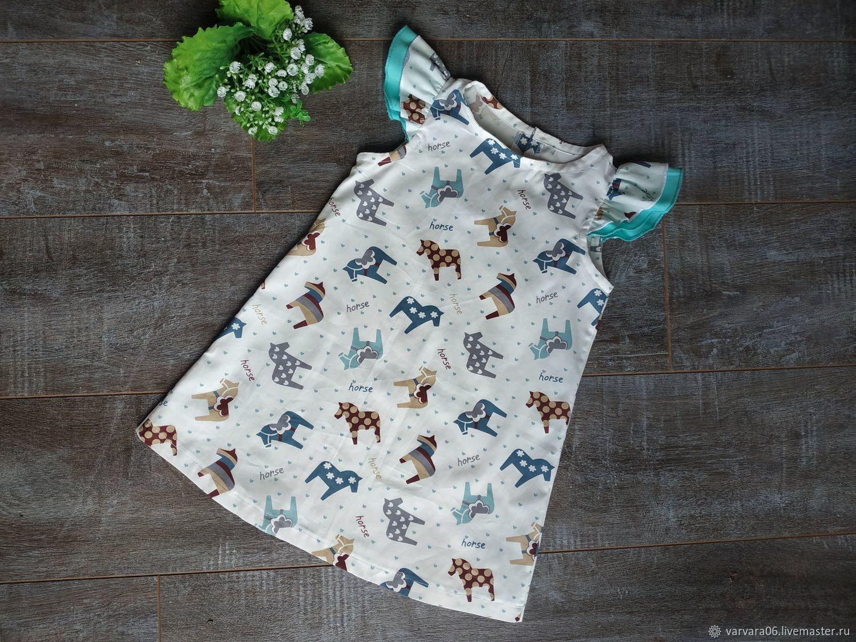 Платье для девочки с единорогами, р-р от 3х до 8 лет, Платье, Белгород,  Фото №1