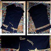 """Одежда ручной работы. Ярмарка Мастеров - ручная работа футболка """"Вид сзади""""))). Handmade."""