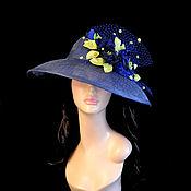 """Аксессуары handmade. Livemaster - original item Шляпа """" Синии розы"""". Handmade."""