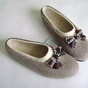 Обувь ручной работы. Ярмарка Мастеров - ручная работа Тапочки Старая сказка. Handmade.