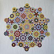 Картины и панно ручной работы. Ярмарка Мастеров - ручная работа Графика на тему арабской геометрии, 50x50см. Handmade.