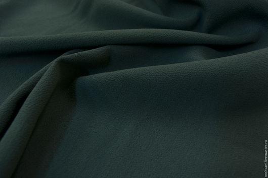 Шитье ручной работы. Ярмарка Мастеров - ручная работа. Купить Плательная ткань. Handmade. Тёмно-зелёный, вискоза италия