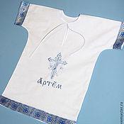 Работы для детей, handmade. Livemaster - original item Baptismal nominal shirt. Handmade.