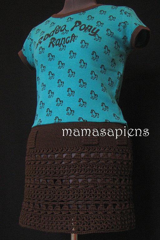 Юбки ручной работы. Ярмарка Мастеров - ручная работа. Купить юбка Шоколад. Handmade. Вязаная юбка, шоколад, мокко