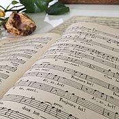 Винтажные книги ручной работы. Ярмарка Мастеров - ручная работа Антикварные ноты. Handmade.