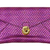 Винтаж handmade. Livemaster - original item Bright purple clutch bag with a lock. New. Handmade.