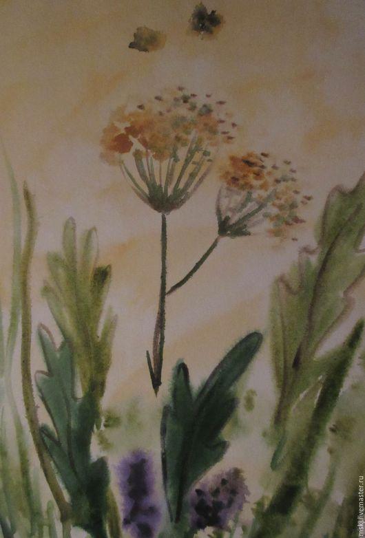 Картины цветов ручной работы. Ярмарка Мастеров - ручная работа. Купить Акварель Лето. Handmade. Комбинированный, акварельная живопись