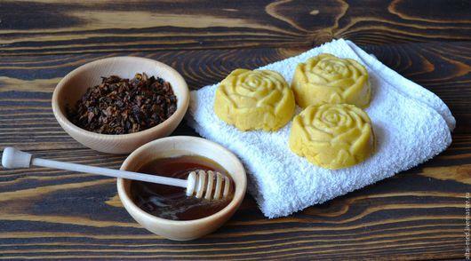 Мыло ручной работы. Ярмарка Мастеров - ручная работа. Купить Облепиха и мед, медовое мыло с нуля в форме розы.. Handmade.