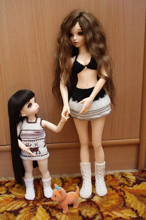 Сапоги для куклы бжд