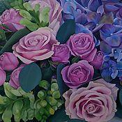 Картины ручной работы. Ярмарка Мастеров - ручная работа Цветы на холсте.. Handmade.