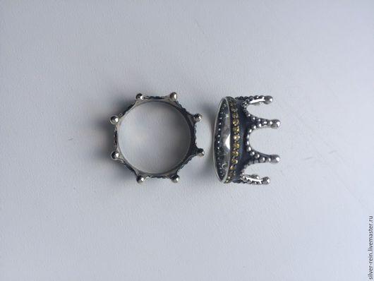 Кольца ручной работы. Ярмарка Мастеров - ручная работа. Купить Серебряная Корона. Handmade. Серый