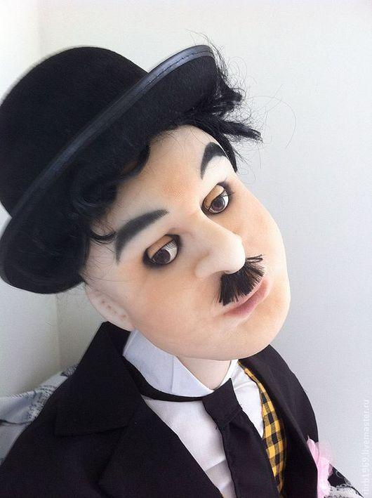 """Портретные куклы ручной работы. Ярмарка Мастеров - ручная работа. Купить Портретная   ростовая кукла""""Старое кино""""(Чарли Чаплин). Handmade. Черный"""