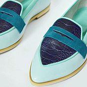 Обувь ручной работы handmade. Livemaster - original item Loafers with ostrich paw. Handmade.