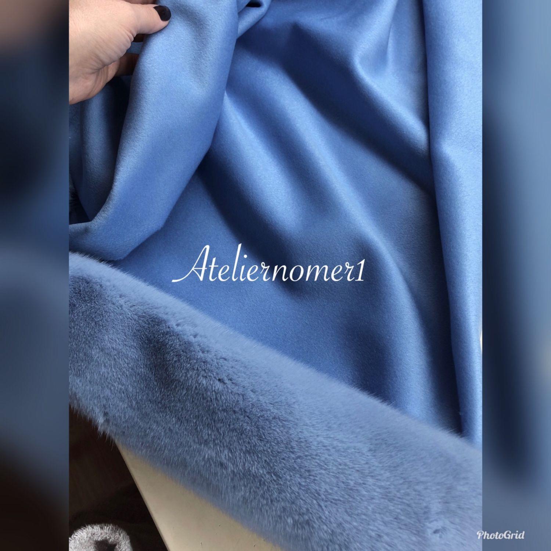 Палантин из кашемира и голубой норки, Палантины, Калуга,  Фото №1