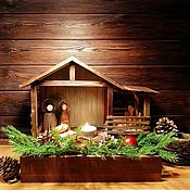 Сувениры и подарки handmade. Livemaster - original item Nativity scene (crèche) with figurines of the Holy family. Handmade.