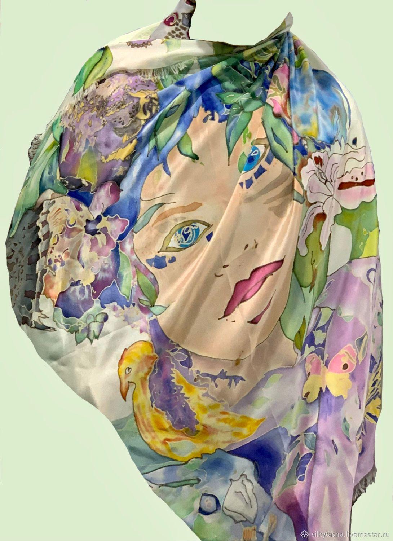 Шаль, натуральный шелк. 180*92 см, Палантины, Москва,  Фото №1