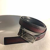Аксессуары handmade. Livemaster - original item Bilateral leather belt. Handmade.