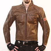 Одежда handmade. Livemaster - original item Moto jacket brown. Handmade.