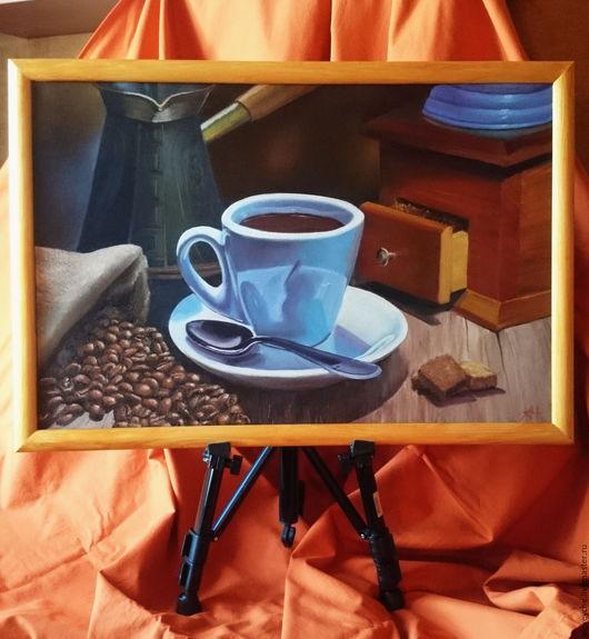 Натюрморт ручной работы. Ярмарка Мастеров - ручная работа. Купить Кофейный мотив. Handmade. Комбинированный, кофейный, кружка, красочный