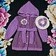 Одежда для девочек, ручной работы. Ярмарка Мастеров - ручная работа. Купить Вязаное пальто и беретик для девочки. Handmade. Разноцветный, берет