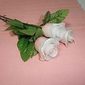 Подарки к праздникам ручной работы. Ярмарка Мастеров - ручная работа Свеча Роза. Handmade.