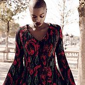 Одежда ручной работы. Ярмарка Мастеров - ручная работа Платье с цветами. Handmade.