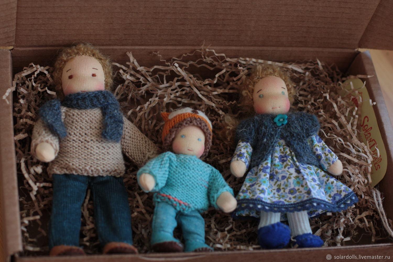 Вальдорфская каркасная семья 14-10 см, Вальдорфские куклы и звери, Москва,  Фото №1