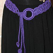 Аксессуары handmade. Livemaster - original item Knitted belt. with ring. `` vine``. Handmade.