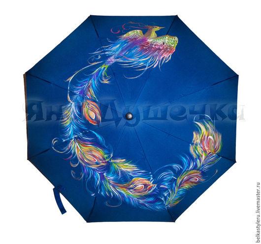 """Зонты ручной работы. Ярмарка Мастеров - ручная работа. Купить Зонт с ручной росписью """"Жар-птица"""".. Handmade. Купить зонт"""