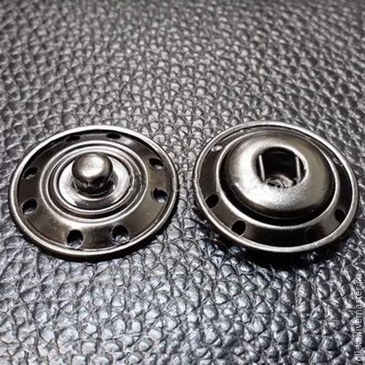Металлическая кнопка. Цвет:черный никель. Производство:Италия.Диаметр:22 мм.