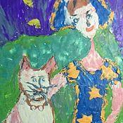 Картины ручной работы. Ярмарка Мастеров - ручная работа Под голубыми вечерами. Пластилинография. Handmade.