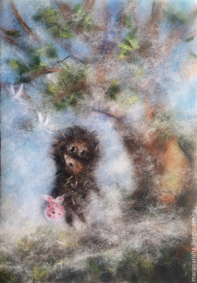 Picture of wool hedgehog in the fog, Pictures, St. Petersburg,  Фото №1