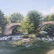 Картины и панно handmade. Livemaster - original item Oil painting landscape Bridge. Handmade.