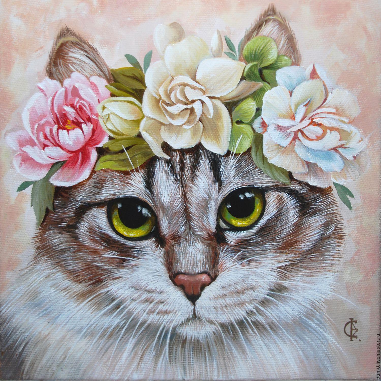 портрет кошки, Картины, Санкт-Петербург, Фото №1