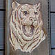 """Обложки ручной работы. Обложка на автодокументы """"Тигр"""". miakuma. Ярмарка Мастеров. Коричневый, изделия из кожи, коричневая обложка, тиснение по коже"""