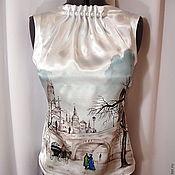 """Одежда ручной работы. Ярмарка Мастеров - ручная работа Блузка """"В городе дождь"""". Handmade."""